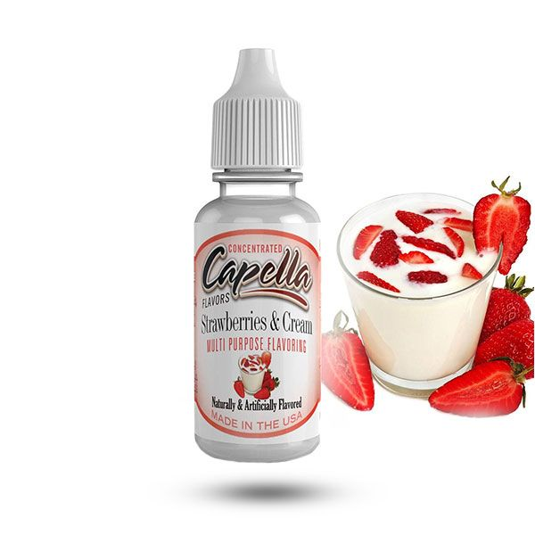 Capella aromāts Strawberries and Cream 13ml